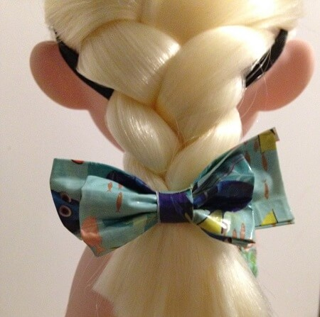 Bow For Doll Made From Duct Tape