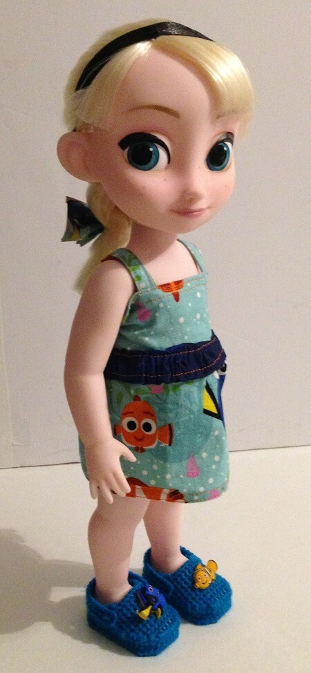 Elsa Animator Doll With Duct Tape Hair Bow