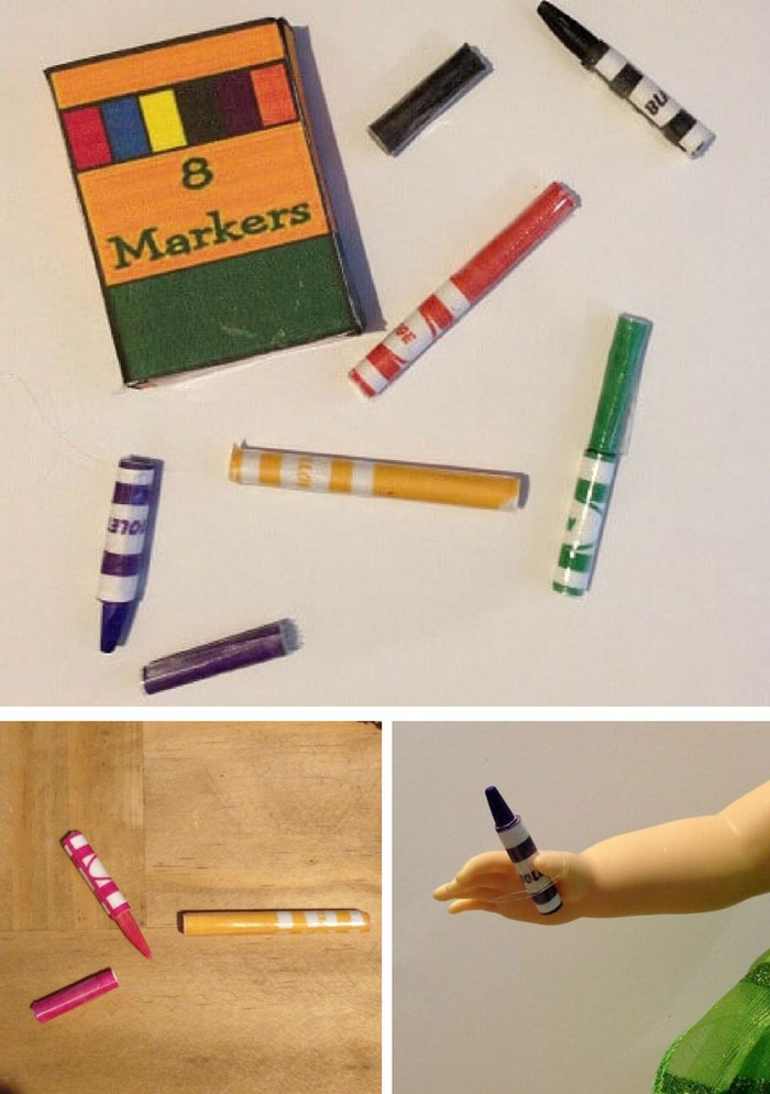 How To Make Markers For A Doll