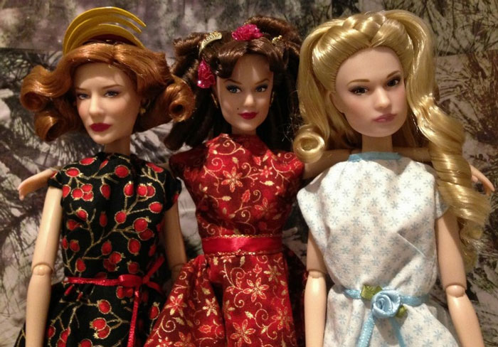 Christmas Portrait Of Our Cinderella Dolls