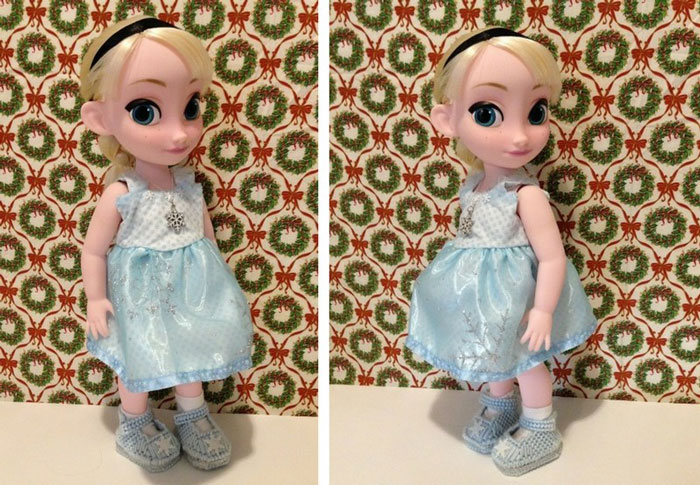 Image Of Snowflake Dress Made For Animator Elsa Doll