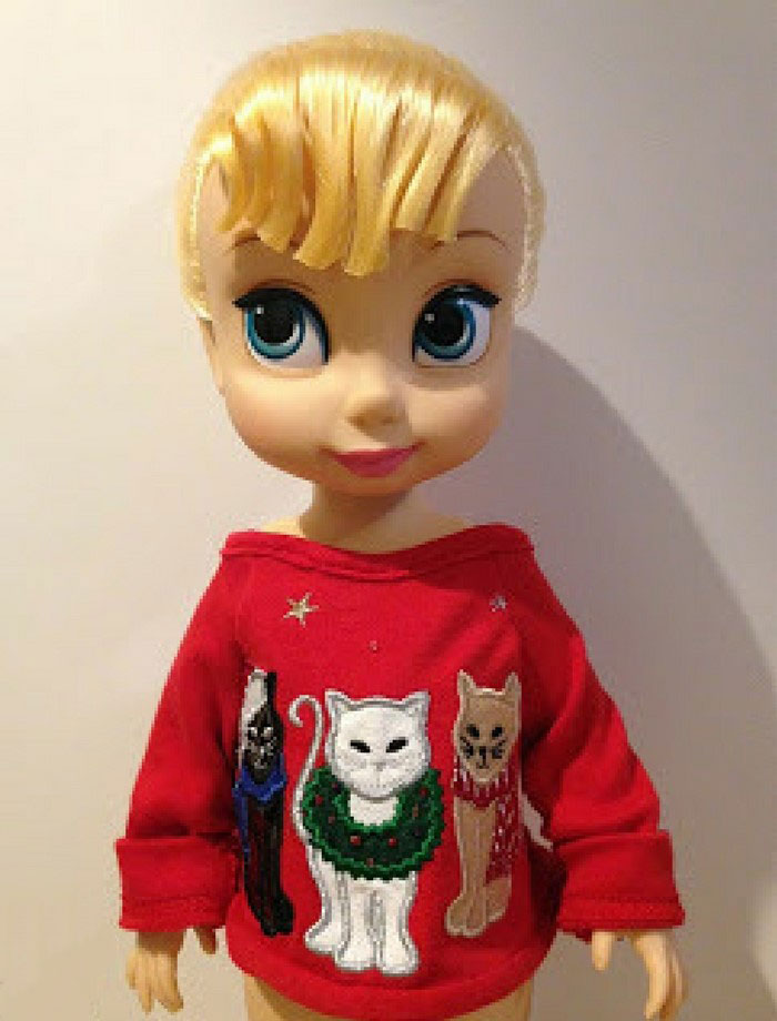 Tinker Bell Animator Doll Wearing Red Sweater