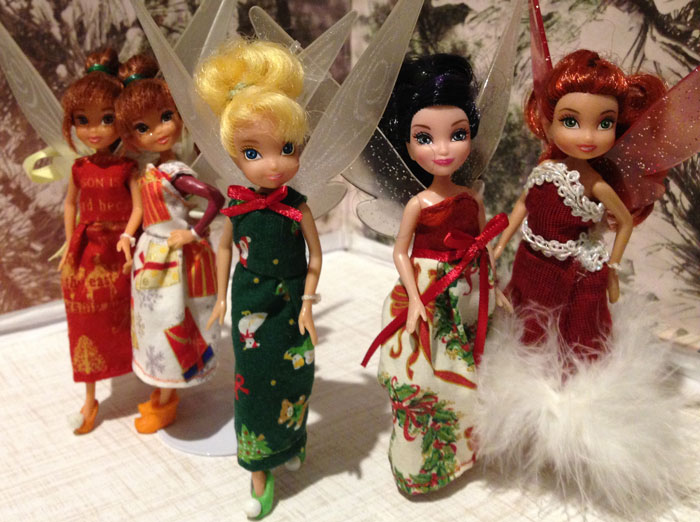My Collection Of Fairies Wearing Christmas Dresses