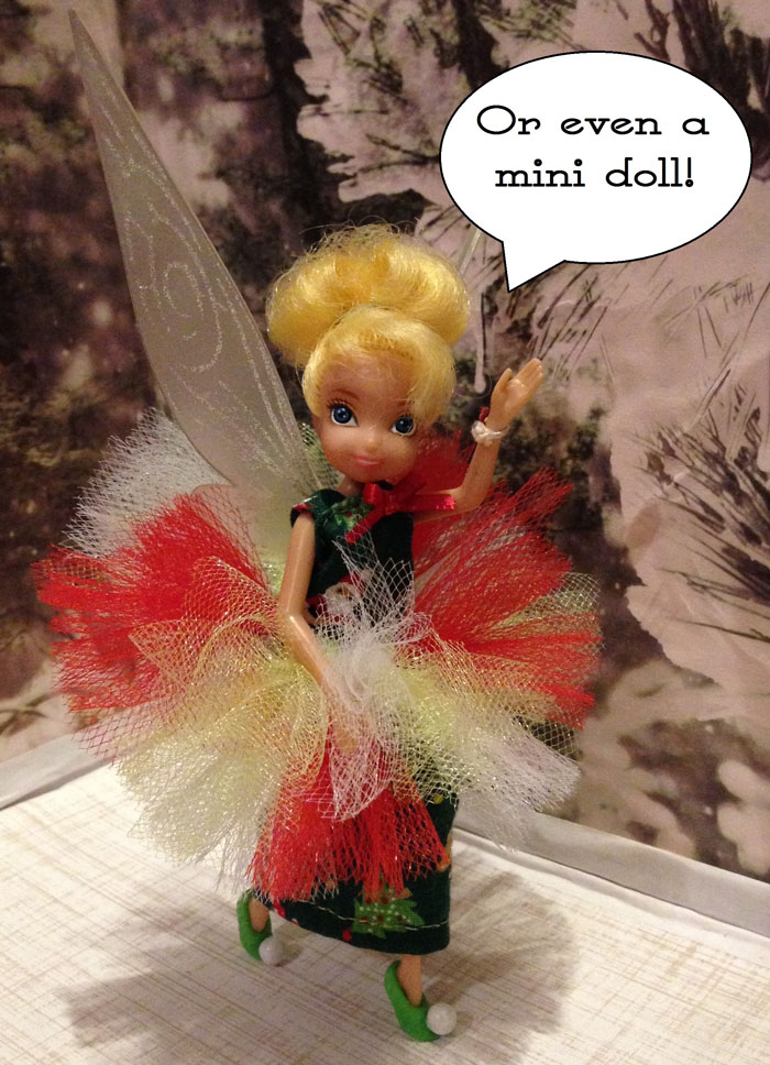 Tinkerbell Doll Wearing Tulle Skirt