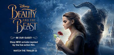 Promo Banner For Beauty And The Beast Movie