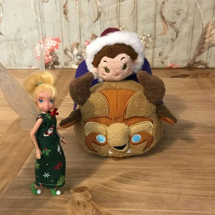 Tinkerbell Doll Standing With Tsum Tsums