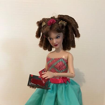 Anastasia Holding Doll Credit Card