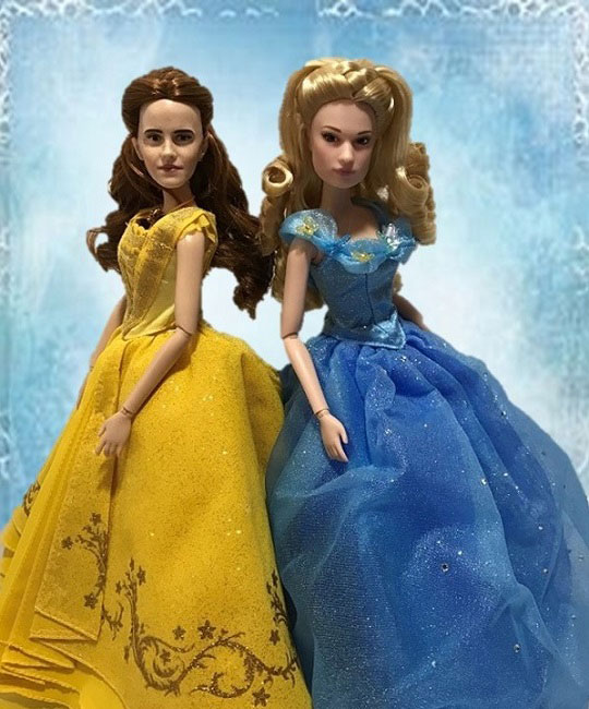 Disney Live Action Dolls: Belle And Cinderella