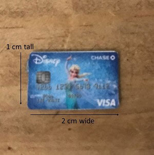 Dimensions Of Doll Sized Visa Card