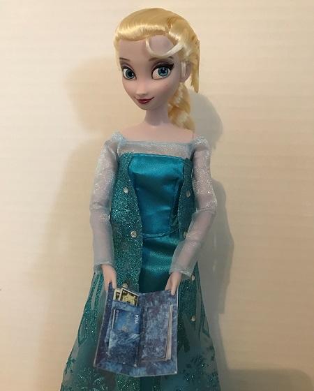 Elsa Doll With DIY Credit Card