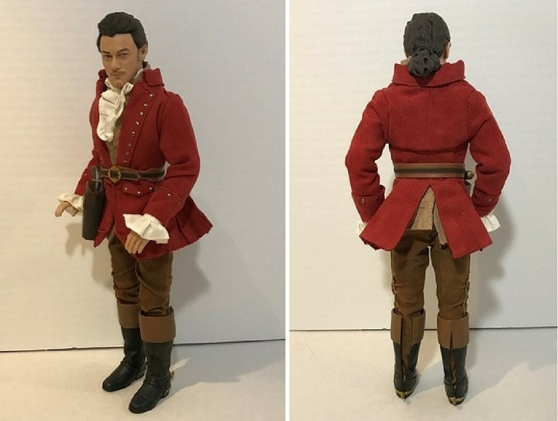 Disney Film Collection Gaston Doll: Front And Back View