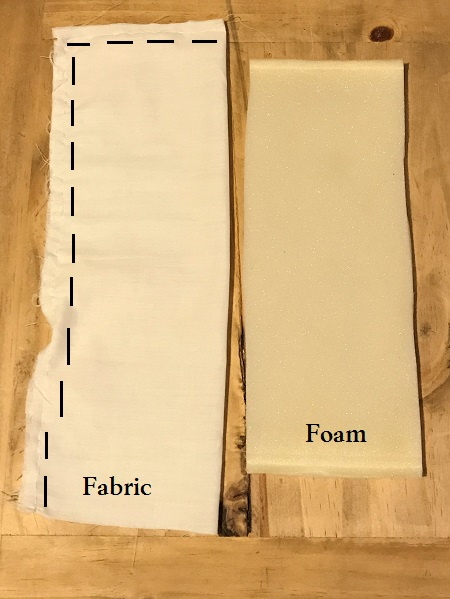 White Cotton And Foam For Doll Mattress