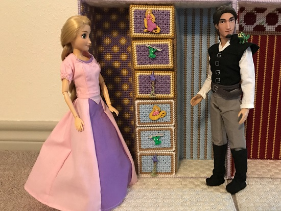 Flynn Ryder And Rapunzel With Tangled Themed Doll Case