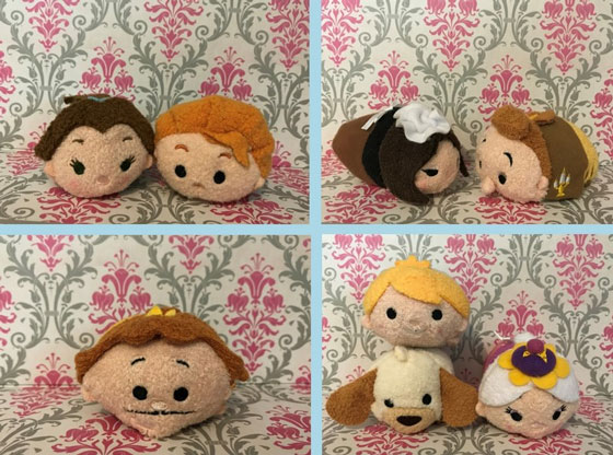 Beauty And The Beast Tsum Tsum Set With Characters In Their Human Form