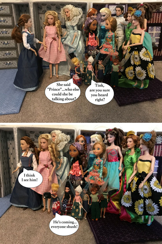 Doll Photo Story: Everyone Gathers Around To See The New Prince