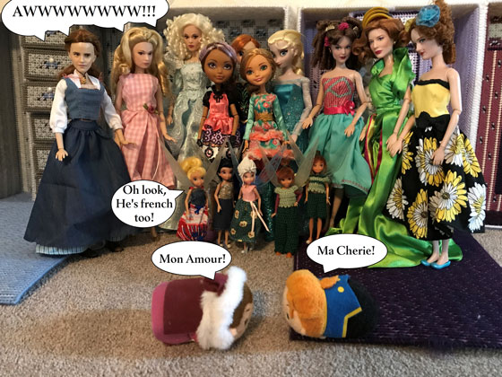 Doll Photo Story: Winter Belle And The Prince Tsum Tsum Meet
