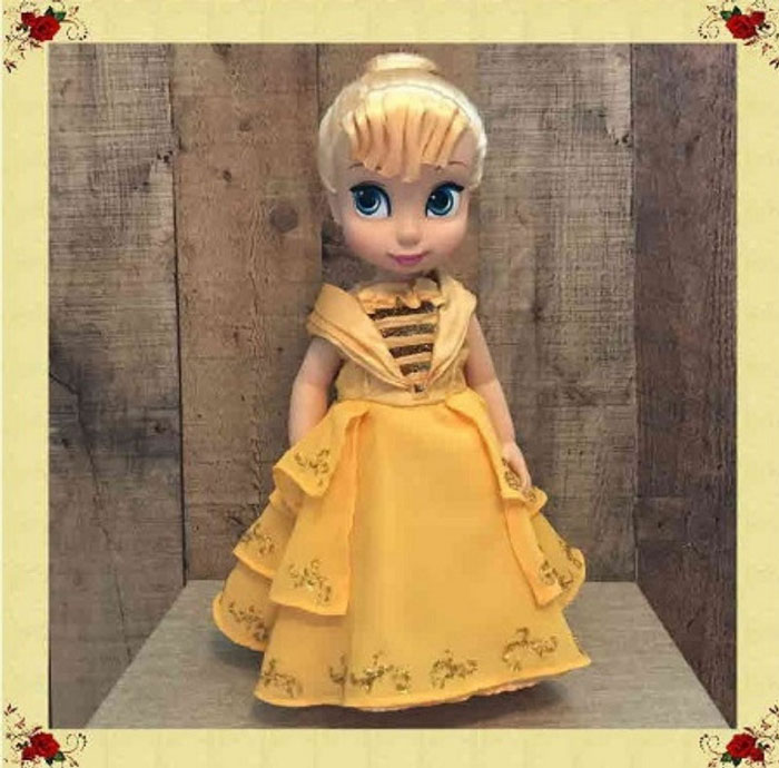 Belle's Dress For Disney Animator Doll.
