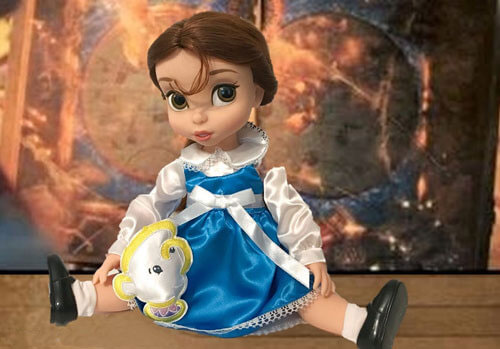 Animator Belle Doll With Map Background