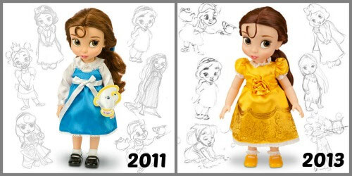 Disney Animators Belle 2011 vs. 2013.