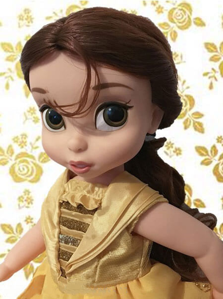 Disney Animator Belle Doll With Rose Background