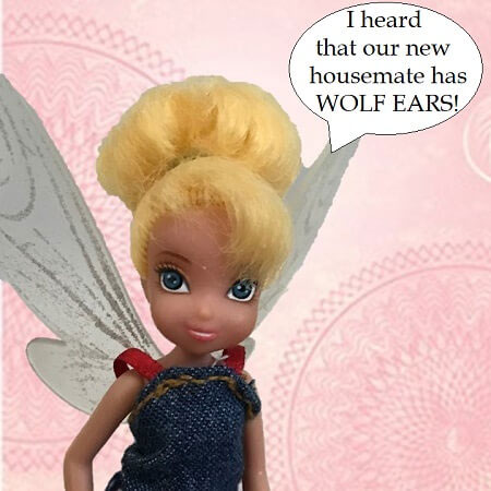 Image of Tinkerbell with speech bubble.