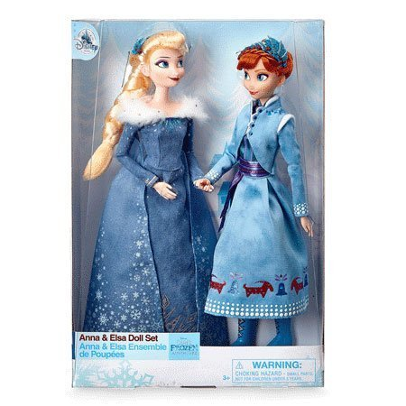 Disney Store Classic Dolls: Anna and Elsa from Olaf's Frozen Adventure.
