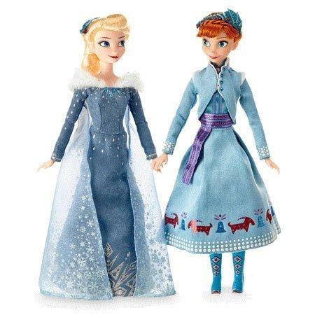 Olaf's Frozen Adventure Dolls: Anna and Elsa.