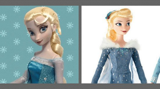 Original Elsa verses Elsa from Olaf's Frozen Adventure.