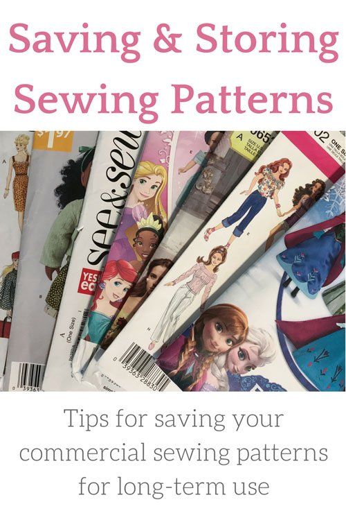 Tips for saving and storing your sewing patterns for long-term use.