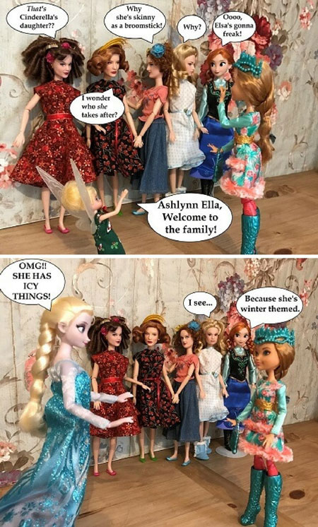 Photo Story: Ashlynn Ella Meets The Dolls