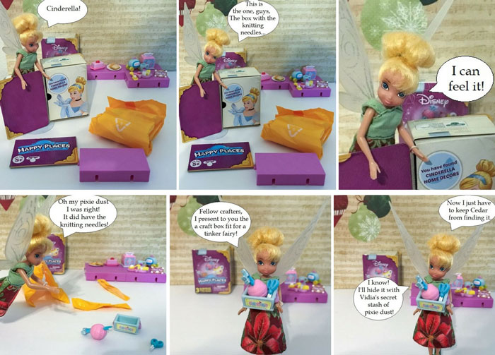 Disney Shopkins Blind Box Cinderella's Decor: Knitting Supplies.