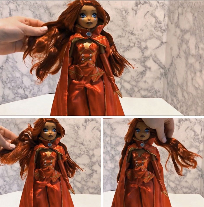 Doll With Crunchy Hair