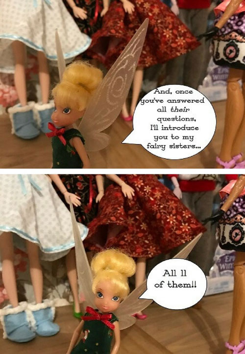Doll Photo Story: Dolls Meeting Cedar Wood