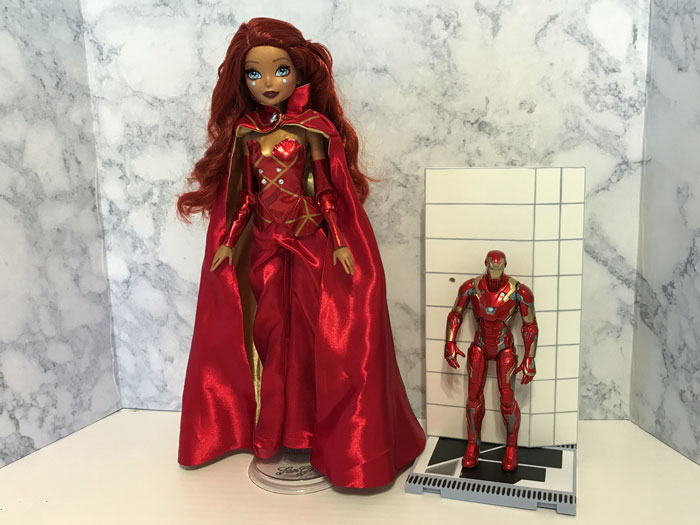 Marvel Fan Girl and Iron Man Action Figure