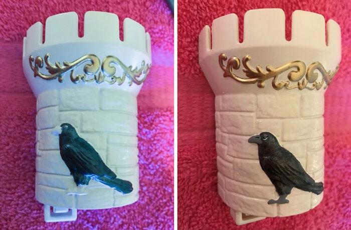 Raven On Castle Turrett
