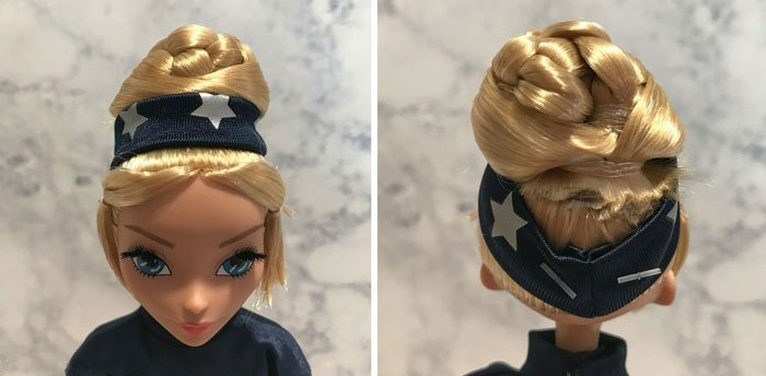 Captain America Fan Girl Doll's Hairstyle.