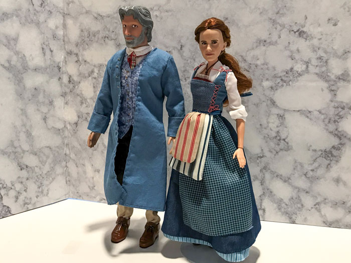 Custom Maurice Doll With Disney Film Collection Belle Doll