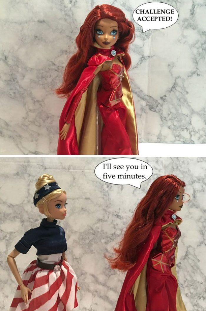 Doll Photo Story Featuring Marvel Fan Girls: Image 6