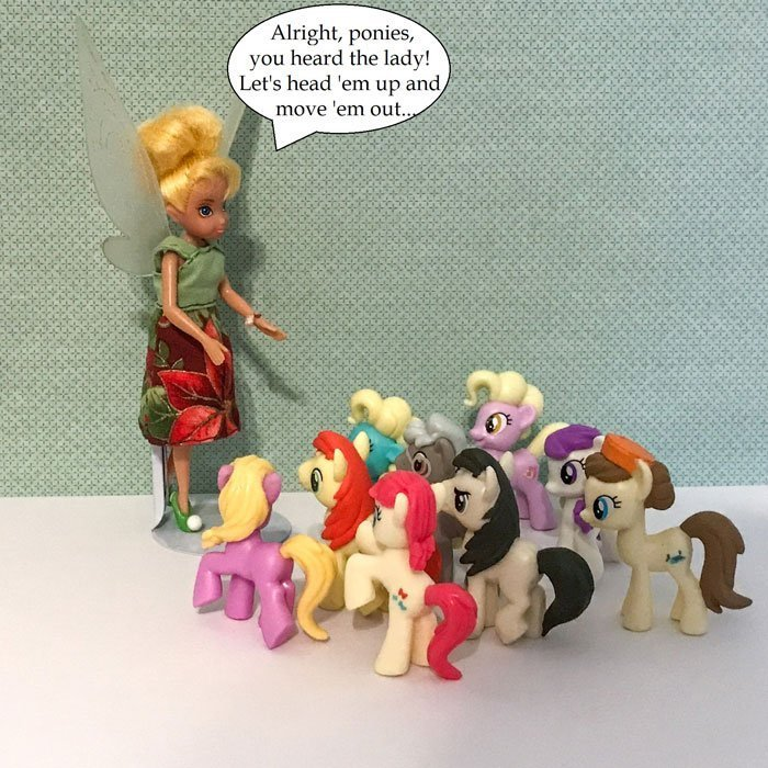 Doll Photo Story: Tink Talking To Ponies