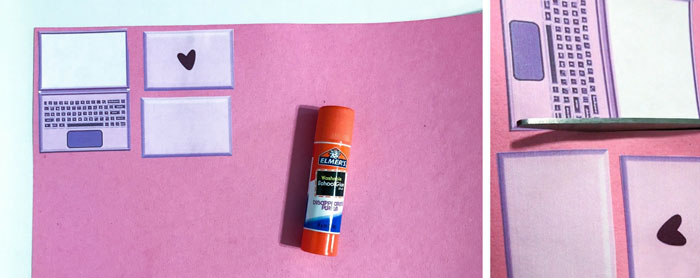 Glue printables to cardstock.