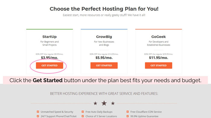 How To Sign Up For Web Hosting With SiteGround