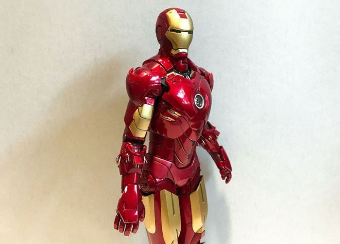 Hot Toys Iron Man Mark IV with missile armor.