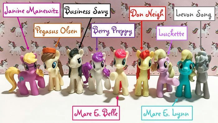 My Little Pony mini figures from Michael's.