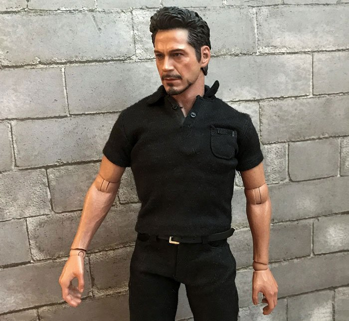 Hot Toys Tony Stark from the Arc Reactor Creation Set.