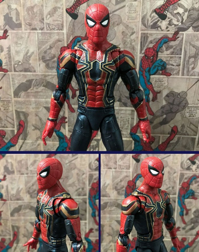 Image showing front of Iron Spider figure.