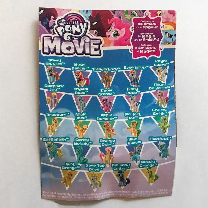 Back of My Little Pony Wave 21 collector guide.