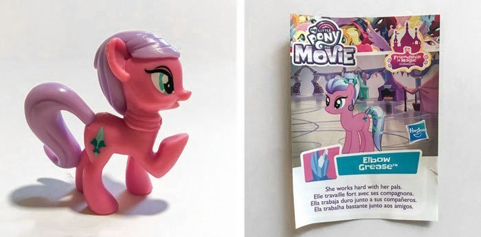 My Little Pony Blind Bag Mini Figure: Elbow Grease.