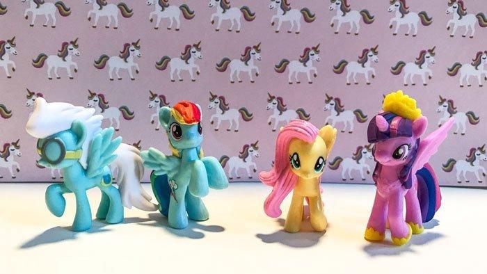 My Little Pony Pegasus Mini Figures.