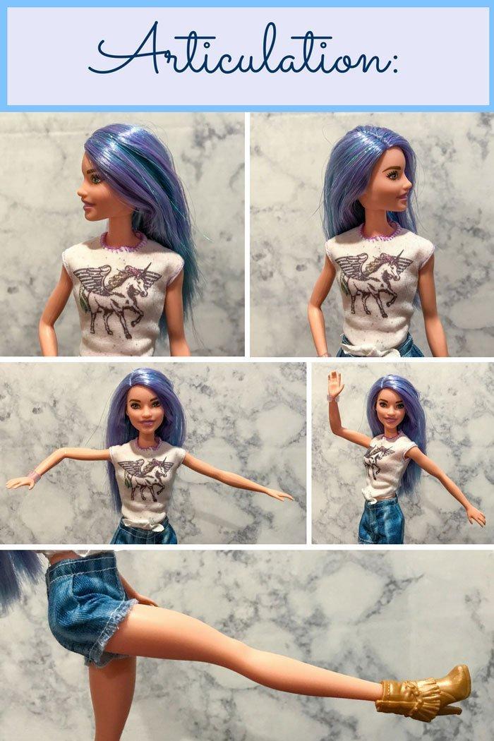Barbie Fashionista Doll Articulation.