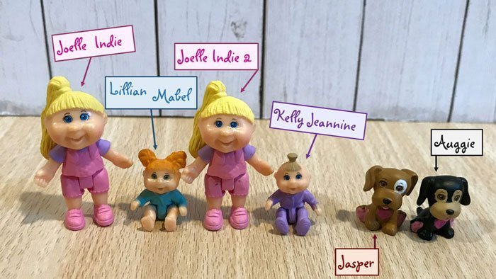 Cabbage Patch Little Sprouts Mini Figures.